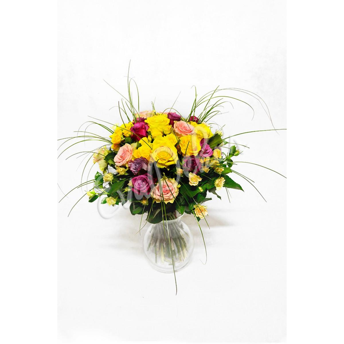 Růže mix barev - Evadekor.cz rozvoz květin