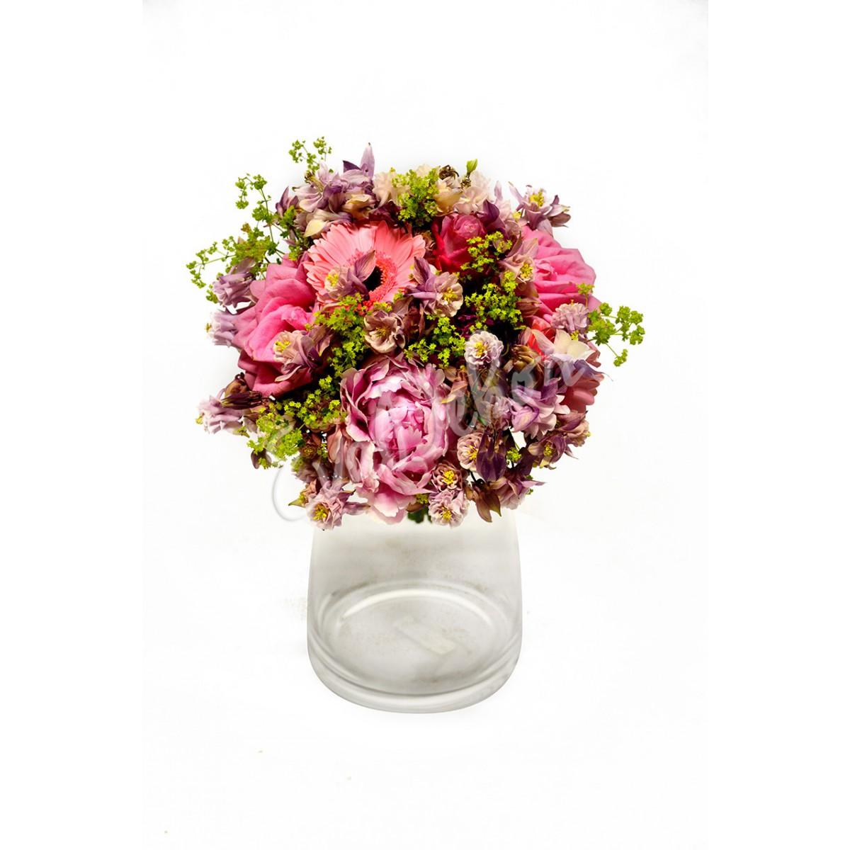 Svatební kytice Růžová princezna - EvaDekor rovoz květin po Praze