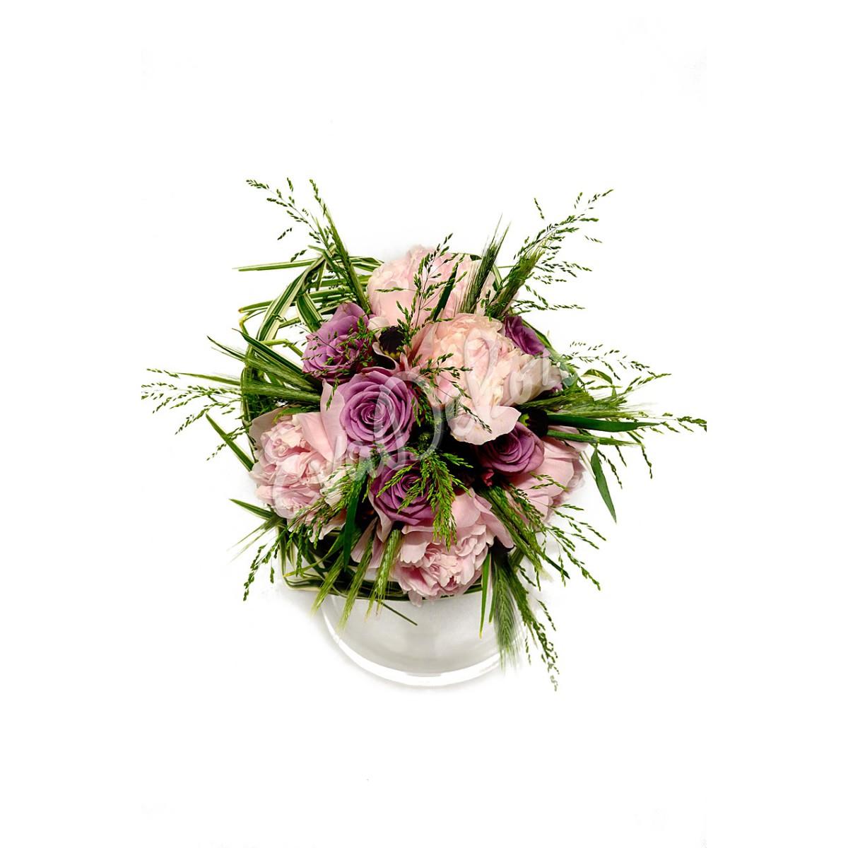 Svatební kytice Pivoňková fontána - EvaDekor rovoz květin po Praze