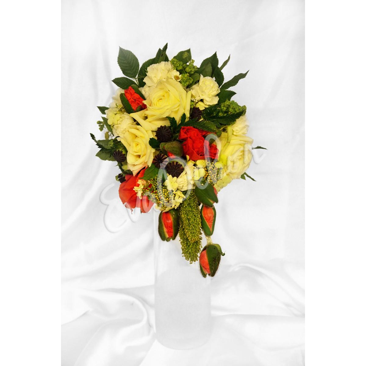 Svatební kytice Maková panenka