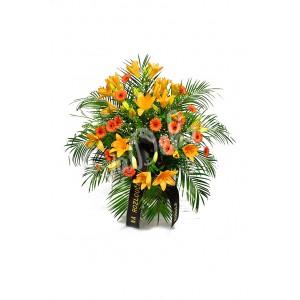 Oranžové lilie a gerbery