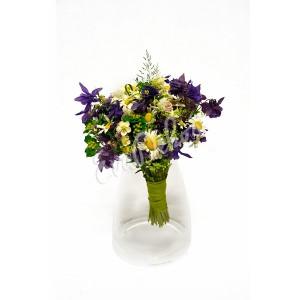 Svatební kytice Kopretina v louce - EvaDekor rovoz květin po Praze