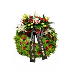 Smuteční věnec Anemone - EvaDekor.cz rozvoz květin Praha