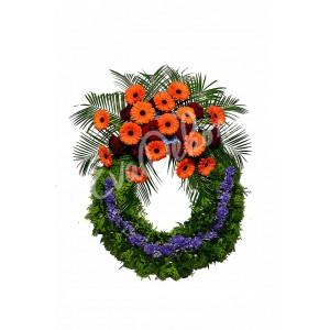 Smuteční věnec Modrý hyacint - EvaDekor.cz rozvoz květin Praha